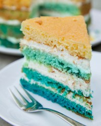 Colourful – yet simple – Sponge Cake