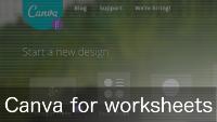 Video: Making worksheets on Canva.com