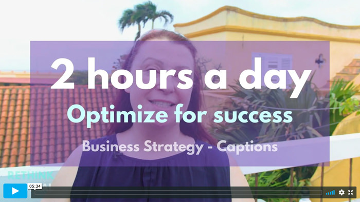 Postcards from Rethink Central   2 hours a day - Optimize for success - Captioned