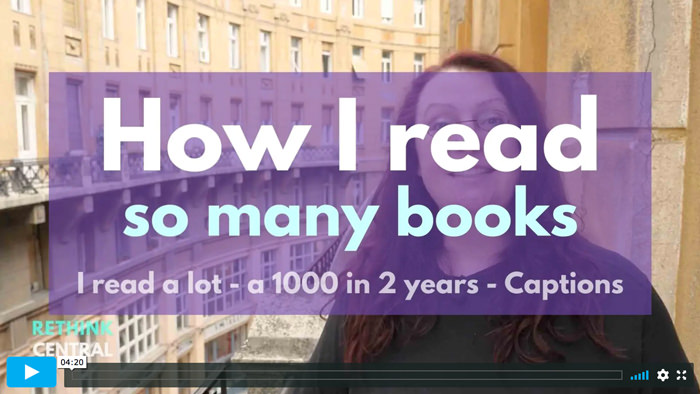 Postcards from Rethink Central   How I read so many books   Captioned