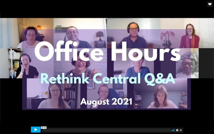 Rethink Q&A August 2021